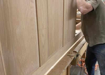 Wood work in workshop